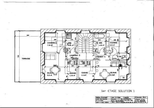 Plan rnovation maison pour info le jardin est au sud - Maison jardin house plan villeurbanne ...